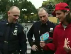 Vinnie showing cops his tampon case