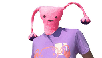 Uterus t-shirt on a uterus model