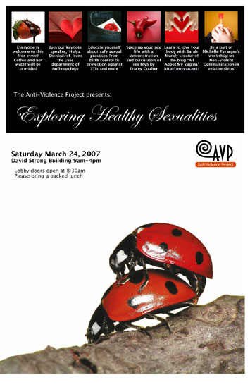 Poster for AVP conference Exploring Healthy Sexualities
